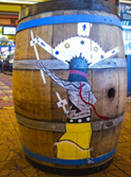 Cliff Castle Casino Painted Barrel