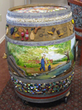 Cottonwood Village Painted Barrel
