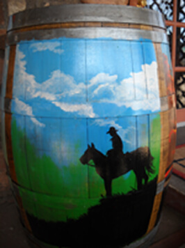 Nate's Cownboy Cafe Verde Valley Wine Trail Painted Barrel