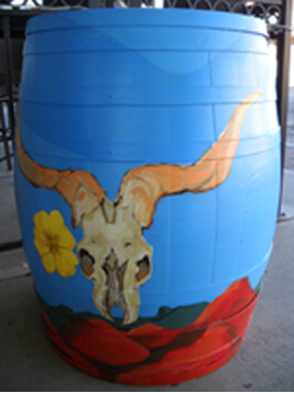 The Tavern Grille Painted Barrel