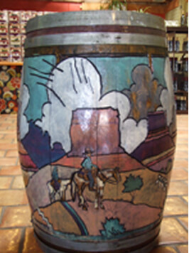 Verde Valley Olive Oil Traders Painted Barrel
