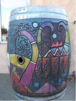 Yavapai College Foundation Painted Barrel