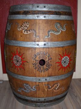 Arizona Stronghold Vineyard Painted Barrel