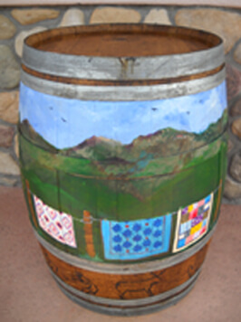 Quilter's Quarters & Bernina Too Painted Barrel