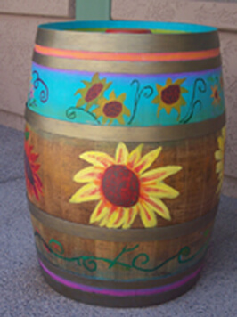 Rainbow Acres Painted Barrel